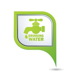 drinking water GREEN pointer vector image