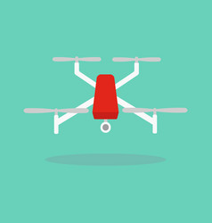 dron with camera vector image vector image