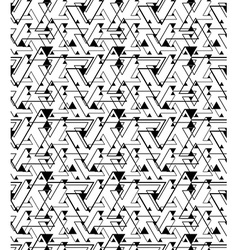Geometric contrast maze abstract seamless pattern vector image vector image