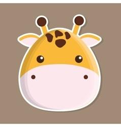 Giraffe animal cute little design vector