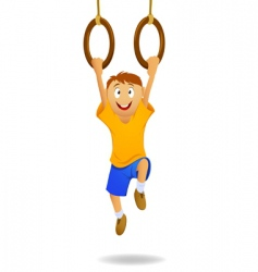 gymnastic rings vector image