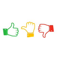 Hand with the thumb vector