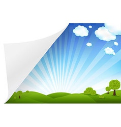 Landscape with paper vector