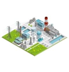 Of boiler factory vector