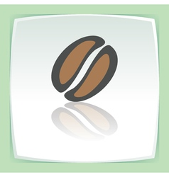 outline coffee bean icon Modern infographic logo vector image