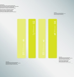 Rectangle template consists of four green parts on vector