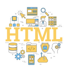 Round linear concept of html vector