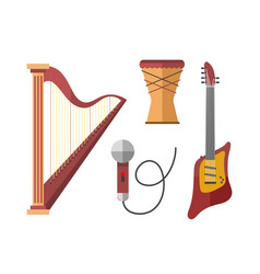 stringed musical instruments classical harp vector image vector image