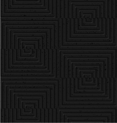 Textured black plastic cut and shifted squares vector