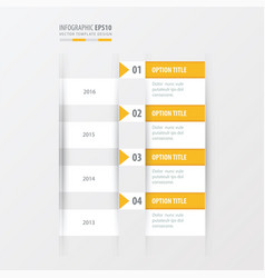 timeline yellow color vector image vector image
