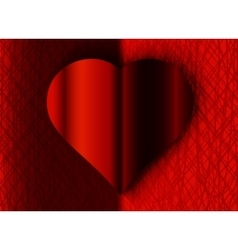 Valentine day black and red heart on texture vector