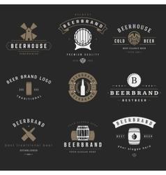 Vintage beer brewery logos emblems labels vector