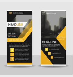 Yello black roll up business brochure flyer banner vector