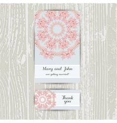 Brochure And Business Card Pink Flower vector image