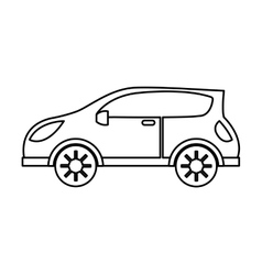 Car auto vehicle isolated icon vector