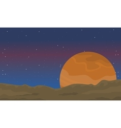 Desert outer space of landscape vector