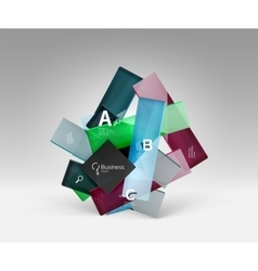 3d geometric abstract background template vector
