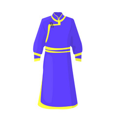 blue bathrobe of mongoliansfragment nominalnog vector image
