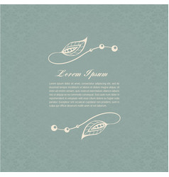 Gray-blue calligraphic elements vector