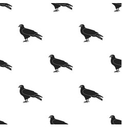 Kite icon in black style isolated on white vector