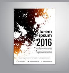 Grunge ink splatter brochure poster template vector