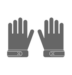 protective gloves working clothes flat icon vector image