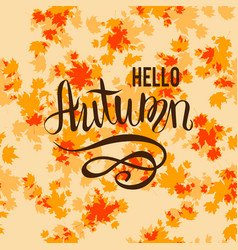 Autumn background and lettering vector