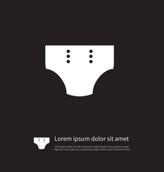 Isolated pampers icon diaper element can vector
