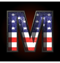American metal figure m vector