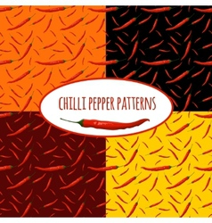 Chilli pepper seamless pattern vector
