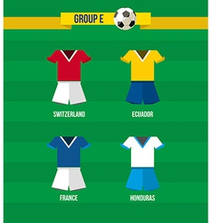 Brazil Soccer Championship 2014 Group E team vector image