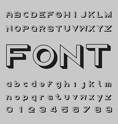 3d font design shadow alphabet letters and vector