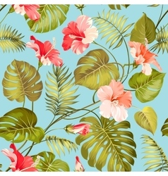 Seamless tropical flower vector