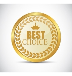 Gold Best Choice Label vector image