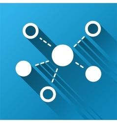 Virtual links gradient square icon vector