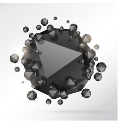 Abstract 3d geometric shape particles background vector
