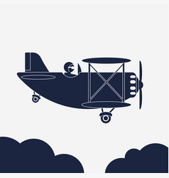 airlane airplane icon aircraft in vector image