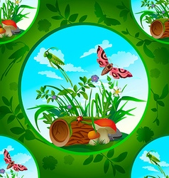 beautiful flowers and insects1 vector image