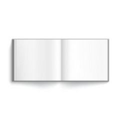 Blank hardcover album vector
