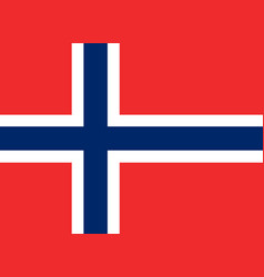 Colored flag of norway vector
