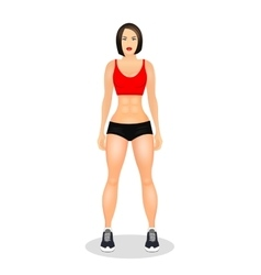 Concept with fit young woman in sportswear vector image