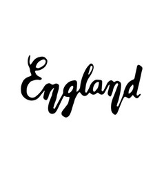 England hand lettering isolated on white vector