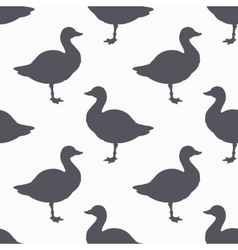Farm bird silhouette seamless pattern Goose meat vector image vector image