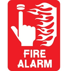 Fire alarm sign icon vector
