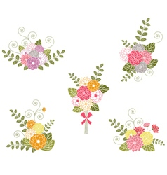 Floral Bouquets vector image vector image