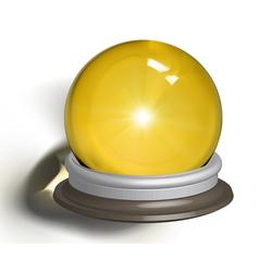 Ial of a magic crystal ball vector