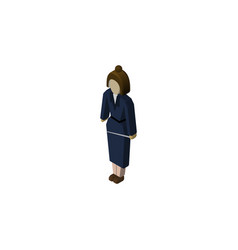 isolated lady isometric businesswoman vector image