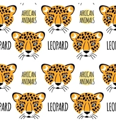 Leopard face seamless pattern vector