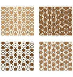line stars tile seamless background vector image