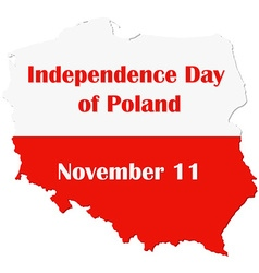 Map of poland with national flag independence day vector